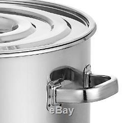 Heavy Duty 180qt Pintes Tri-ply Base Épais En Acier Inoxydable Stock Pot Withlid