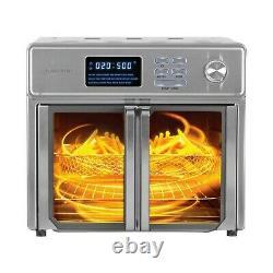 Kalorik 26-quart Digital Max Air Fryer Four Rotisserie Bake Cook Portes En Verre