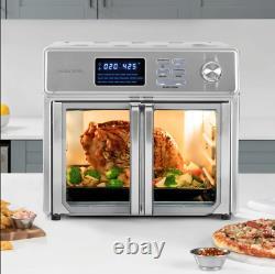 Kalorik 26-quart Digital Max Air Fryer Oven Rotisserie Bake Cook Glass Doors