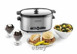 Kitchenaid 6-quart Slow Cooker Avec Couvercle En Verre Solide Ksc6223ss