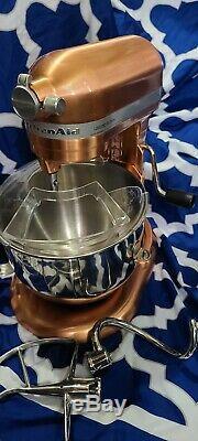 Kitchenaid 7 Pintes Bowl-lift Batteur Limited Edition Cuivre Avec Des Pièces Jointes