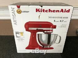 Kitchenaid Artisan Ksm150pser 5 Pintes Batteur Empire Red Nouveau Livraison Gratuite