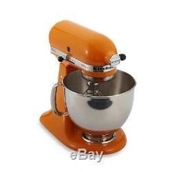 Kitchenaid Artisan Mandarine 5 Pintes Tête Inclinable Batteur Ksm150pstg Nouveau Mélangeur