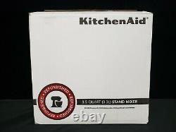 Kitchenaid Artisan Mélangeur 3.5-quart Rksm33xxcu Contour Argent Remis À Neuf