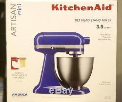 Kitchenaid Artisan Mini-mélangeur Sur Pied, 3 Pintes, Ksm3311x Twilight Blue