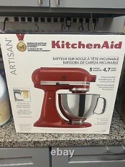 Kitchenaid Artisan Series 5 Tilt-head Stand Mixer, Empire Red (ksm150pser)