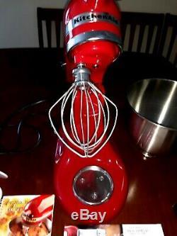 Kitchenaid Batteur Sur Socle Inclinable 5 Pintes Ksm150pscg Couvert Artisanal Red Bundle Nouveau