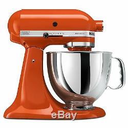 Kitchenaid Batteur Sur Socle Inclinable 5 Pintes Ksm150pspn Orange Persimmon Artisan Nouveau