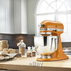 Kitchenaid Batteur Sur Socle Inclinable De 5 Pintes Rrk150tg Artisan 10 Sp Mandarine Orange Tg