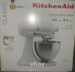 Kitchenaid Classic 4.5-quart Tilt Head Stand Mixer Blanc