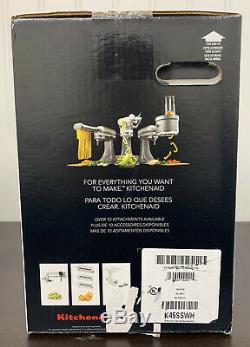 Kitchenaid Classic Series 4.5 Pintes Tête Inclinable Batteur Sur Socle, Blanc K45sswh Nouveau