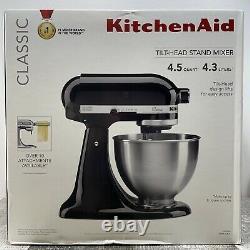 Kitchenaid Classic Series 4.5 Quart Tilt-head Stand Mixer, Black K45ssob Nouveau