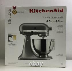 Kitchenaid Deluxe Ksm97sl 4.5 Quarts Tilt-head Stand Mixer Argent Nouveaux Navires Gratuits