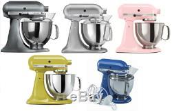 Kitchenaid - Inclinaison Du Mixeur Sur Table, 5 Pintes, Ksm150ps, Argent Métallisé Ou Perlé