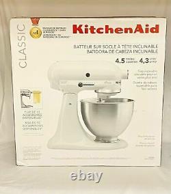 Kitchenaid K45sswh Classic Series 4.5 Mélangeur À Tête De Tilt -(ebt5)