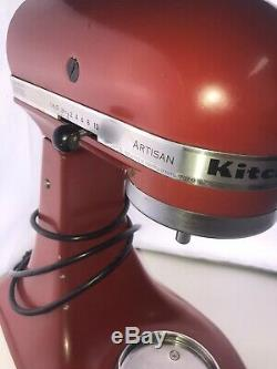 Kitchenaid Ksm150pser 5 Pintes Tilt Empire Mélangeur Sur Socle À Tête Artisan Rouge Utilisé