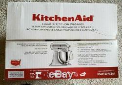 Kitchenaid Ksm150pssm Batteur Sur Socle Série Artisan, 5 Pintes, Argent Métallisé