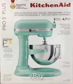 Kitchenaid Kv25g0x 5 Pintes Professional Autonome Mixer Ice Blue Bateau Libre