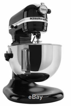 Kitchenaid Kv25g0x Mélangeur Sur Socle Élévateur À Cuve Pro 5 Plus, Noir