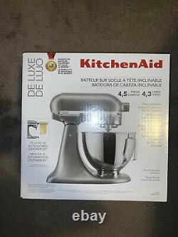 Kitchenaid Mixer 4,5 Quarts Argent Deluxe