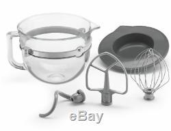 Kitchenaid Mixer 6 Pintes Bol En Verre Ensemble Comptoir De Cuisine Poignée Rapide Facile