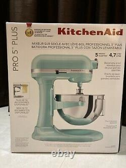 Kitchenaid Pro 5 Plus Kv25g0x Ice Blue 5-quart Bowl-lift Stand Mixer Navires Dès Que Possible