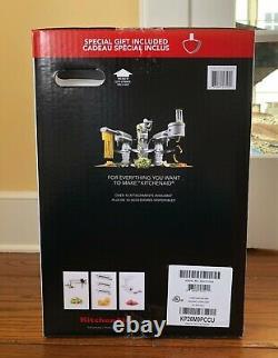 Kitchenaid Professional 6 Quart 590w Bowl-lift Stand Mixer Avec Flex Edge Argent