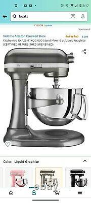 Kitchenaid Professional Kp26m9pc 6 Quart 590w Bowl-lift Stand Mixer Contour S