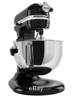 Kitchenaid R-kg25h0xob Pro Hd 475 Watts Tous Métal 5 Pintes Batteur Onyx Noir