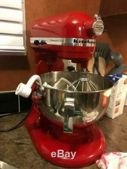 Kitchenaid R-kv25g0xer Professional 5 Mixer Plus 5 Pintes Stand Red Marque Nouveau