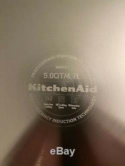 Kitchenaid Sept-ply 5.0 Pintes Professional Low Sauteuse Avec Couvercle, Kcc750hsst