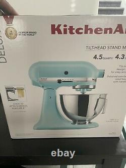Kitchenaid Ultra Power 4.5 Quart Tilt Head Stand Mixer Mineral Water Blue New