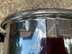 Lifetime Marque 2 Pièces T304cc Cuisine En Acier Inoxydable 10 Pot Pintes / Couvercle