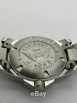 Longines Conquest Inoxydable Argent Dial Hommes Steel Montre Quarts L37604566