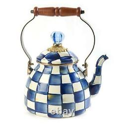 Mackenzie-childs Royal Check Tea Kettle 2 Quart