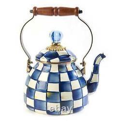 Mackenzie-childs Royal Check Tea Kettle 2 Quart Msrp 135 $
