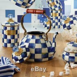 Mackenzie-childs Royal Voir Émail Tea Kettle 3 Pintes