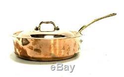 Mauviel 1830 Sauteuse Avec Couvercle En Acier Inoxydable, Cuivre 3,4 Pintes