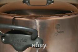 Mauviel M'150c Cuivre & Acier Inoxydable 6,4 Litres Stock Pot Avec Couvercle Nouveau