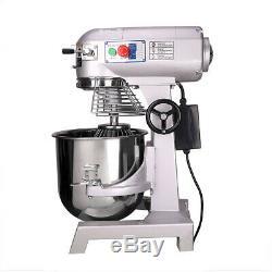 Mixer Alimentaire Pâte Commerciale 30 3 Pintes Vitesse 1100w Pizza Bakery Food Processor