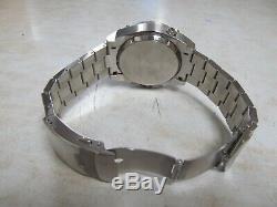 Montre Bulova Precisionist Pour Homme, Chronographe 96b175, Cadran Noir, S \ S 46mm