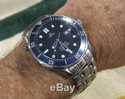 Montre De Plongée Omega Seamaster Professional 300m Blue Wave Quarts 41mm