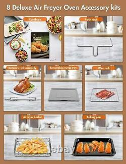 Moosoo 10 En 1 Grand Grille-pain Four Air Fryer 24 Quart Rotisserie Bake 1700w Etl