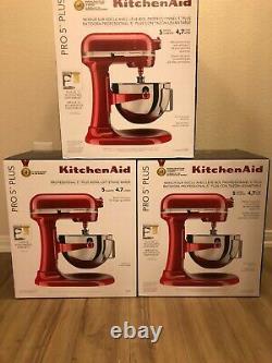 Navires Aujourd'hui Kitchenaid Pro 5 Plus Série 5 Quart Bowl Lift Stand Mixer Red