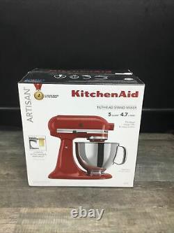 New Kitchenaid 5 Quart Tilt-head Stand Mixer, Empire Red Ksm150pser