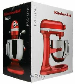 New Kitchenaid 7 Pintes Ksm7586pca Pro Ligne Bol Relevable Batteur Sur Socle Candy Apple