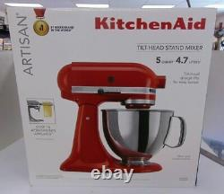 New Kitchenaid Artisan Series 5 Quart Tilt-head Stand Mixer Empire Red Bh906