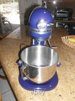 New Kitchenaid Pro 5 Plus 5 Quart Bowl Lift Stand Mixer -attachments Encre Bleu