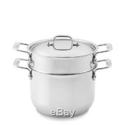 Nib 150 $ All-clad Gourmet 18/10 Lourde Jauge En Acier Inoxydable 6 Quart Pasta Pot