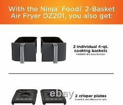 Ninja Dz201 Foodi 6-en-1 2-basket Air Fryer Avec Dualzone Technologie, 8-quart